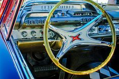 1962 Dodge Polara Steering Wheel - Car Images by Jill Reger Dodge, Car Images, Car Pictures, Car Part Art, Automobile, Us Cars, Dashboards, Car Photography, Car Detailing
