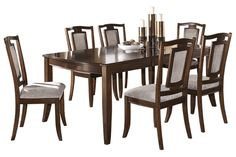 "Series Name:	Martini Studio Item Name:	RECT Dining Room EXT Table Model #:	D531-35 Dimensions:	42""W x 60/78""D x 30""H Weight:	128 lbs"