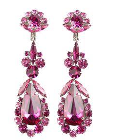 #HOLTaiganJewels @Taigan @Allison House of Lavande  1960's Sherman Pink Drop Earrings by House of Lavande