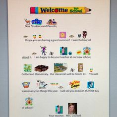 I kept my back-to-school letter simple with lots of visuals for my students with special needs.