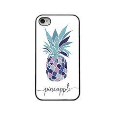 Pineapple Iphone case blue purple pineapple by NastasiaDesigns, $16.00 #pineapple #iphonecase