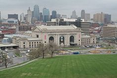 Union Station Kansas City, MO--taken from the Liberty Memorial/World War I Museum. Downtown KC in the background.