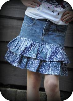 Grietjekarwietje: Van een oude spijkerbroek...