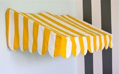 Bistro Awning MINI-Tutorial.  Note from Lisa...I made one of these quite a few years ago...it came out great.