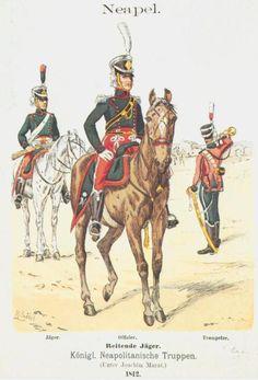 Royaume de Naples - 1er Chasseurs à Cheval - 1812