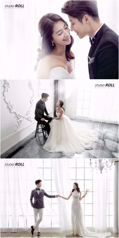 Minimalistic And Oh-So-Lovely Pre-wedding Photoshoot For This Beautiful Couple - Korean Studio Pre-wedding Photoshoot - Studio Roll, Classy, Simple, Indoor