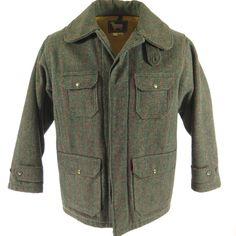 Vintage 50s Woolrich Plaid Stripe Wool Hunting Jacket 44 | eBay