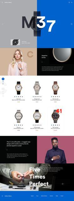 UniformWares Clocks / website redesign concept by Charlie Isslander on dribbble.