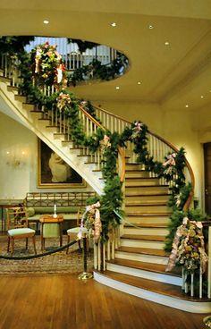 Beautiful Christmas Stairs