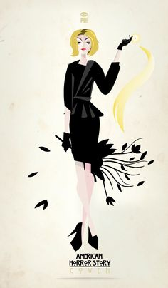 "Fiona Goode - Patricio Oliver  ""American Horror Story Coven"" Illustrations"