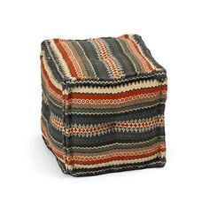 Kilim square ottoman  - collected by linenandlavender.net for - http://www.linenandlavender.net/p/antique-vintage-finds.html