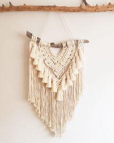 Items similar to Macrame Elegant Wall Hanging on Etsy Modern Macrame, Macrame Art, Macrame Design, Macrame Projects, Macrame Patterns, Crochet Patterns, Deco Boheme, Art And Craft Design, Boho Diy