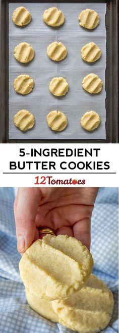 5-ingredient butter cookies