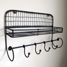 Metal Shelf w/ Hooks