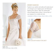 Add sleeves to your strapless dress