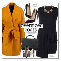 """Chic Oversized Coats"" by oshint ❤ liked on Polyvore featuring Balmain, Oscar de la Renta and Laura Mercier"