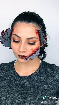Makeup Emoji, Anime Makeup, Sfx Makeup, Makeup Art, Cool Makeup Looks, Creative Makeup Looks, Halloween Makeup Looks, Cute Makeup, Creepy Makeup