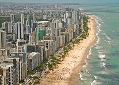 """* Recife, Pernambuco. Brasil * Bairro de Boa Viagem. """"Praia de Boa Viagem"""". Zona Sul da Cidade."""
