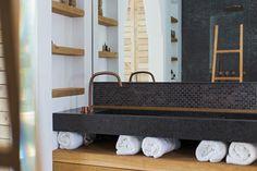 Studio COCOON beautiful Ibiza villa bycocoon.com | Piet Boon by COCOON Raw Copper Award winning Basin Mixer | copper taps & fittings | quartz washbasin | bathroom design | villa design | outdoor bathroom | Ibiza | Dutch Designer Brand COCOON