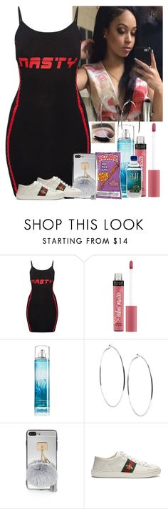 """Nasty"" by diamonddolll ❤ liked on Polyvore featuring Victoria's Secret, GUESS and Gucci"