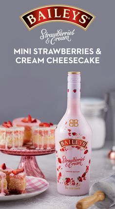 Made with NEW Baileys Strawberries & Cream liqueur, this dessert is both pretty & delicious. Mix 8 oz softened cream cheese, 3/4 lb softened unsalted butter & 2 cups sugar in mixer until fluffy. Beat in 1/2 tsp salt & 2 tbsp Baileys S&C. Beat in 6 eggs, one at a time. Stir in 3 cups all-purpose flour. Mix in 1 pt sliced strawberries. Add batter to greased & floured bundt pan. Bake in preheated 325F oven for ~1 hr/until cake pulls away from pan. Remove & cool. Dust w/ powdered sugar. Serves…