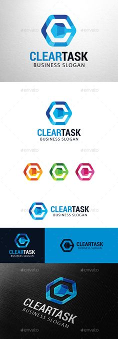 Clear Task, Letter C logo — Photoshop PSD #hexagon #strong • Available here → https://graphicriver.net/item/clear-task-letter-c-logo/11383547?ref=pxcr
