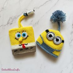 Visit DoitwithloveCrafts on Etsy for more designs and PDF pattern/tutorial Small Crochet Gifts, Diy Crochet, Crochet Hats, Crochet Doll Tutorial, Crochet Keychain Pattern, Crochet Key Cover, Knitting Patterns, Crochet Patterns, Crochet Carpet
