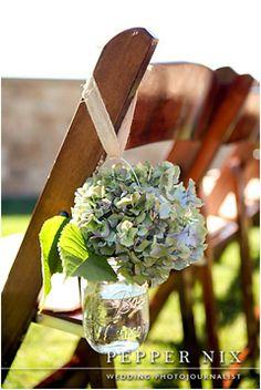 Three things I love 1) St Regis, 2) Deer Valley, 3) flowers hanging on chairs in jars
