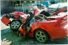 This is REALLY MY CAR. In 2002 Me and my son AMirt were in a car crash that flipped us 4 times then a semi-truck hit on my side. This is the results afterward. It was near Pontiac, IL on Nov. 2002. He was 1 Month old. I praise The Most High every single day for LIFE! #wonthedoit?