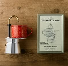 """Mini Italian Espresso Maker: """"Innovation meets nature for coffee lovers who love to live on the wild side."""""""