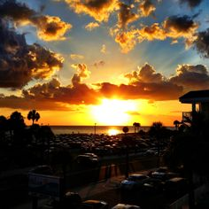 Sunset in Clearwater, Florida -- you can't beat a sunset like that!
