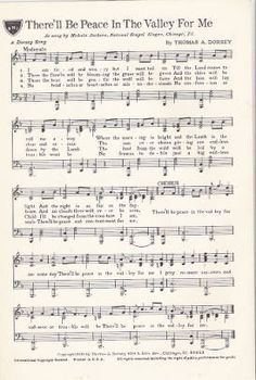 There'll be peace in the valley for me, 1939 :: Gospel Music History Archive This Is Gospel Lyrics, Great Song Lyrics, Music Lyrics, Music Songs, Piano Music, Sheet Music, Christian Song Lyrics, Christian Music, Tamil Christian