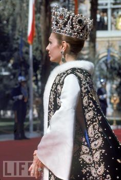The Coronation Crown; worn by Her Imperial Majesty Farah Pahlavi of Iran.