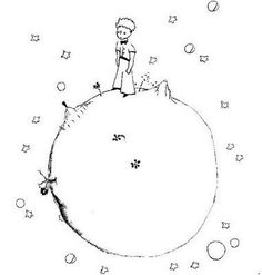Coloring Page The Little Prince By Saint Exupery 4