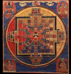 Mandala of Kalachakra ,Tibet 1500 – 1599 The Kālachakra tradition revolves around the concept of time (kāla) and cycles (chakra): from the cycles of the planets,[1] to the cycles of human breathing, it teaches the practice of working with the most subtle energies within one's body on the path to enlightenment.