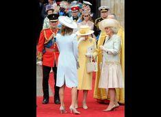 Queen Elizabeth sheds a tear after the wedding of her grandson, Prince William.
