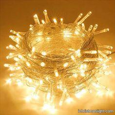 Holiday decorative warm white string lights | iChristmasLight Best Christmas Lights, Christmas Light Displays, Holiday Lights, Outdoor Christmas, Christmas Fun, Christmas Garden, White Christmas, String Lights In The Bedroom, White String Lights