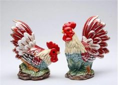 "Made of Superior Quality Fine Ceramic ~ Brand New Design - Collectibles ~ Hand Painted and Polished ~ Ceramic Rooster Sale & Pepper Shaker Features - 3"" tall - Ceramic - Hand Painted - Exquisite Detai"