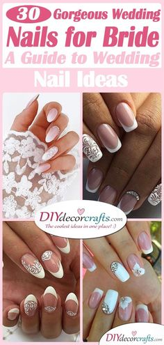 In search for the perfect wedding nails for bride? Take a look through our collection of 30 gorgeous wedding nail ideas and find some inspiration! Wedding Nails For Bride, Wedding Nails Design, Bride Nails, Chevron Nail Art, Floral Nail Art, Heavenly Nails, Multicolored Nails, Pink Ombre Nails, Matte Nail Polish