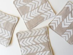 chevron coasters from erindollar's etsy shop