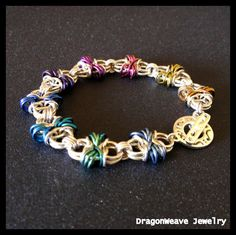 Sterling Silver Chainmaille Bracelet  por DragonweaveJewelry, $225.00