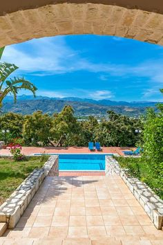View from Villa Minas in Chania, Crete    #travel #crete #nature