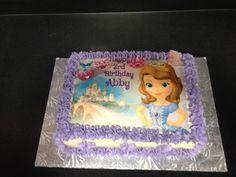 Sofia the First cake  www.facebook.com/bakedandbeyond