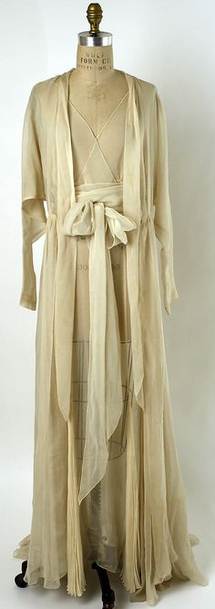 Nightgown Date: mid-1930s Culture: American or European Medium: silk. Front