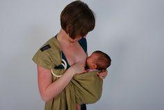 Breastfeeding in a sling! From La Leche League  GrowingSlower