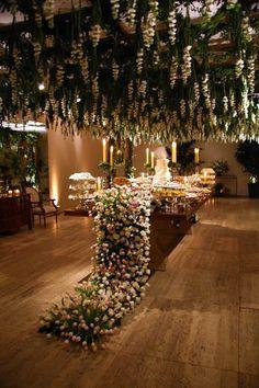 Green Wedding Beautiful Dessert Table