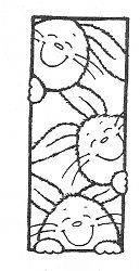 Bunny Friends Rubber Stamp