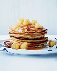 Lemon-Ricotta Pancakes with Caramelized Apples