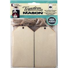 Paint and decorate these tags to use as labels or gift tags to mason jars.