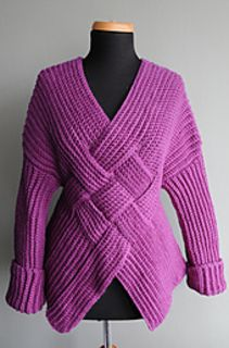 """Nicky Epstein cotton crochet """"Mongolian Warrior"""" sweater. I've started working on this and even though the finished piece looks complicated like a puzzle, it's really easy! I think even a novice could do this as long as you know how to follow a written pattern. Most of it is worked in single crochet through the back loop. [pattern available on Ravelry]"""